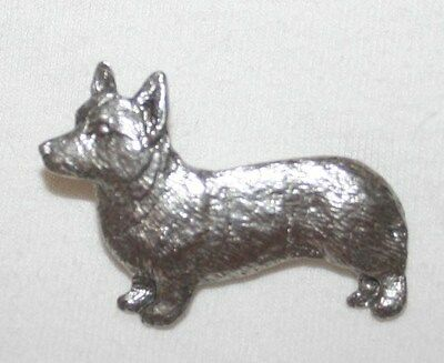 Welsh Corgi Pembroke Dog Fine PEWTER PIN Jewelry Art USA Made