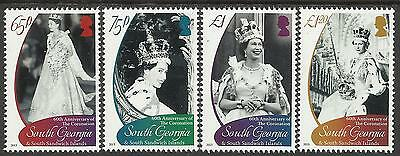 SOUTH GEORGIA 2013 60th Anniversary QUEEN ELIZABETH II CORONATION 4v MNH