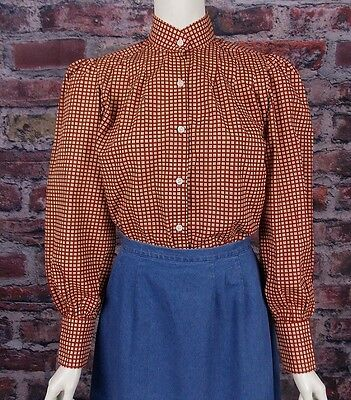 FRONTIER CLASSICS Victorian Red Plaid Wichita Blouse  Dickens Steam punk SASS