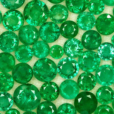 57.97-Carat Assorted Lot of Round 3mm to 6.50mm Zambian Emeralds,3 mm to 6.50 mm