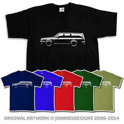 80s VOLVO 240 245 ESTATE INSPIRED CAR T-SHIRT - CHOOSE FROM 6 COLOURS (S-XXXL)