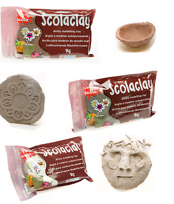 Scola Air Drying Reinforced Clay Stone Or Terracotta 1Kg Pottery Craft Modelling