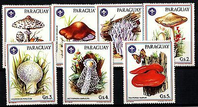 Paraguay Francobolli Funghi Mushrooms Stamps Yvert Tellier 2144/50  Mnh**