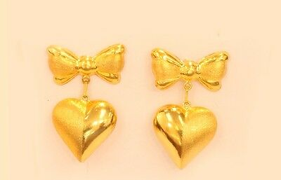 18k gold heart earring from Singapore #22