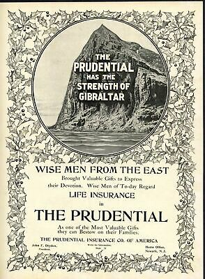 Prudential Life Insurance Company Of America Advertisement Strength Of Gibralter