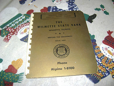 Vintage The Wilmette State Bank Personal Directory Anniversary,Birthday