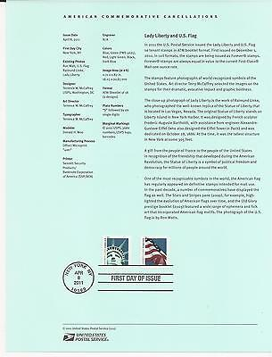 # 4518-4519 LADY LIBERTY AND U.S. FLAG 2011 Official Souvenir Page