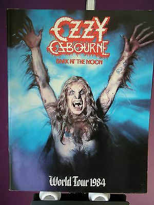 1984 Ozzy Osbourne Bark At The Moon World Concert Tour Program with Holder