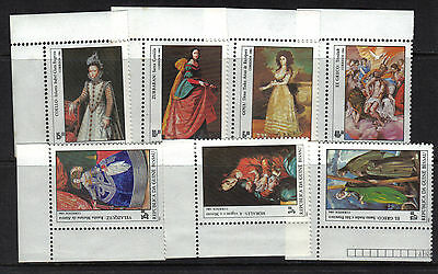 GUINEA BISSAU 1984 PAINTINGS Stap Ex Set 7v SG835-841 Unmounted Mint REF:Y414