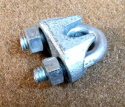 "NOS National Builders Hardware 3230 Rope Clamp 1/4"" Zinc Plated - Lot of 100"