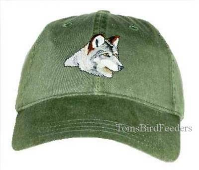 Wolf Lobo Embroidered Cotton Cap NEW