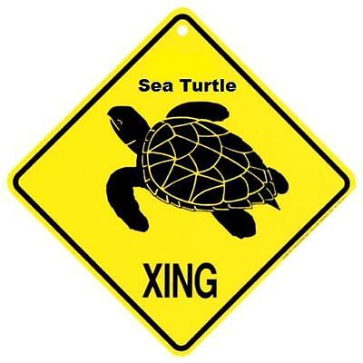 Sea Turtle Crossing Xing Sign New Made in USA    op