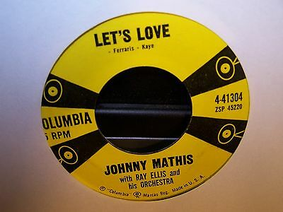 Johnny Mathis - Let's Love / You Are Beautiful  45  1958