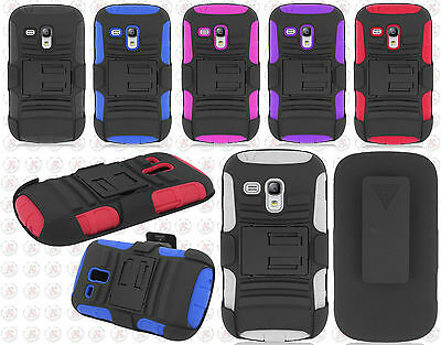 AT&T Samsung Galaxy S III S3 MINI i8190 Hybrid Combo Holster KICKSTAND Cover