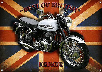 DOMINATOR MOTORCYCLE METAL SIGN,CLASSIC,VINTAGE,ENTHUSIAST,COLLECTABLE.