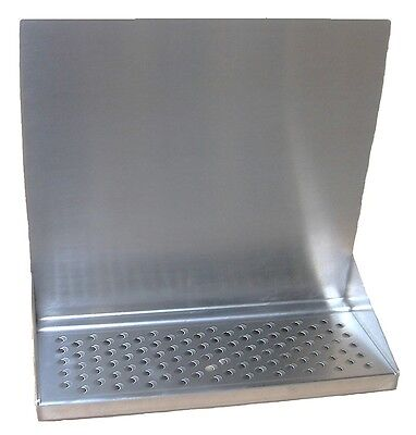 "Draft Beer Tower Wall Mt Drip Tray 15""  Long # DTWM15SS"
