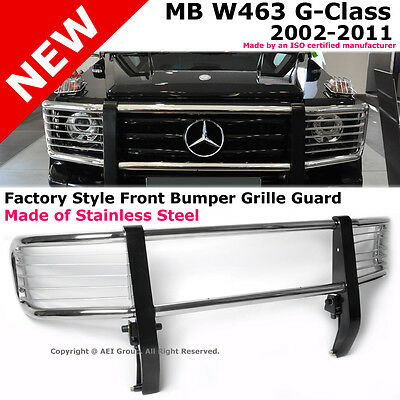 Mercedes-Benz W463 G-Class 02-11 Front Bumper Brush Grille Guard Stainless Steel