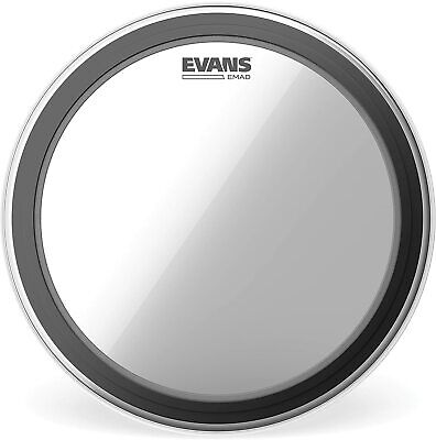 """Evans 22"""" Emad Clear Bass Drum Head Skin BD22EMAD"""