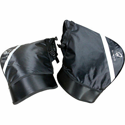 Black Meta Motorcycle Motorbike Winter Thermal Windproof Universal Bar Muffs