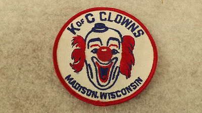 VTG 60's Knights of Columbus Clowns Patch Madison Wisconsin Embroidered  K of C
