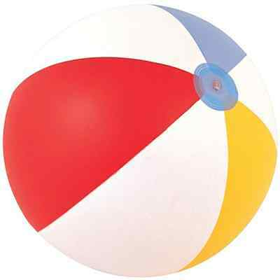 """24"""" Inflatable Beach Ball Holiday Swimming Pool Party Inflatable 6 Panel"""