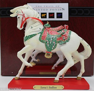 The Trails of Painted Ponies Christmas Santa's Stallion Horse Figrue NIB