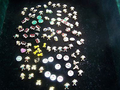 54 Forever Living Floating Locket Charms Birthstones Mom Dad Bear Ribbons + More