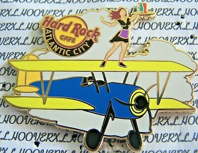 2012 Hard Rock Cafe Atlantic City Server On Biplane/airshow Le Pin