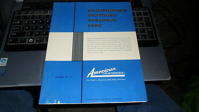 AMERICAN PIPE - BROCHURE #14 PRESTRESSED CONCRETE CYLINDER PIPE  1963