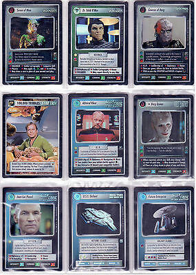 Star Trek CCG Reflections 1.0 Complete Unplayed Set Mint, Straight From Packets.