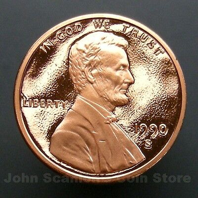 1990-S Lincoln Memorial Cent Penny - Gem Proof Deep Cameo U.S. Coin
