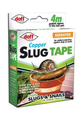 New Doff Slug and Snail Copper Tape 4m Garden Pest Control For Pots/Containers