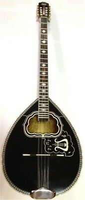 8-STRING BLACK BOUZOUKI w/ SOFT CASE ~ CLASSIC GREEK PROFESSIONAL MATSIKAS
