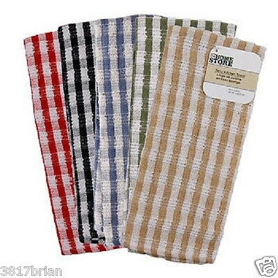 Jumbo Checked Terry Kitchen Towel,Dish,Towels,Terry Cloth,Large,Hanging,Hand,
