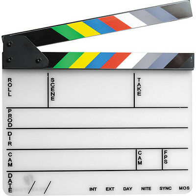 Pearstone Acrylic Dry Erase Clapboard with Color Sticks (9.25x11)