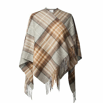 EDINBURGH LAMBSWOOL 100% Lambswool Girls & Ladies Cape Tartan MacKellar