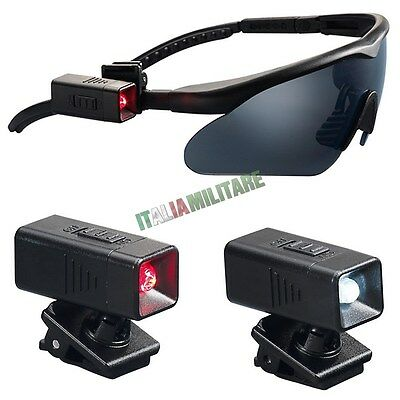 Torcia a Led per Occhiale Universale SWISS EYE con Batterie - Torcia Occhiali