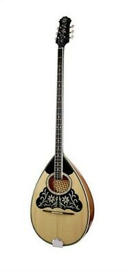 GREEK 6-STRING BOUZOUKI w/ SOFT CASE, DECORATED, SOLID SPRUCE TOP ~ MATSIKAS