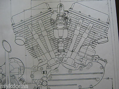 HARLEY DAVIDSON EARLY J Military Motorcycle Engine DIAGRAM ... on