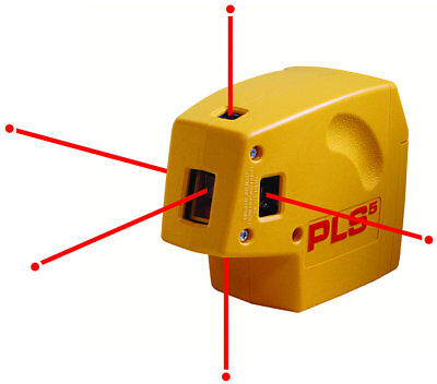Pacific Laser Systems PLS5 Laser Dot Tool Self Leveler Level Line PLS-60541