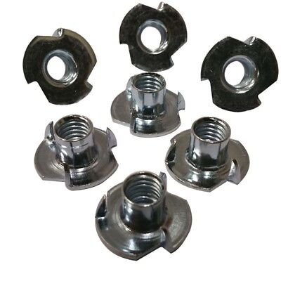 "3 Prong T Nut 6-32 x 1/4"" (Tee Nut) Qty: 500 Zinc Plated"