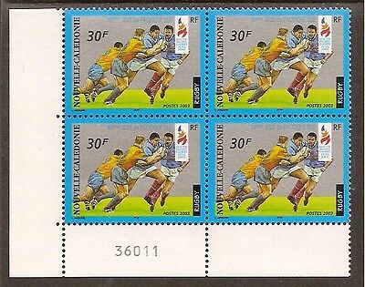 RUGBY NEW CALEDONIA 2003 SP GAMES SINGLE Value Left Corner Block of 4 MNH