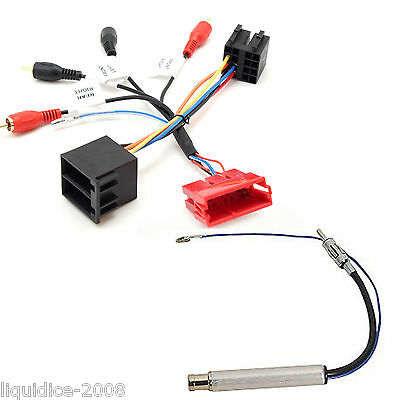 Pc9-410 Audi Tt 1999 - 2006 Fully Amped Rca To Iso Harness Adaptor & Pc5-90