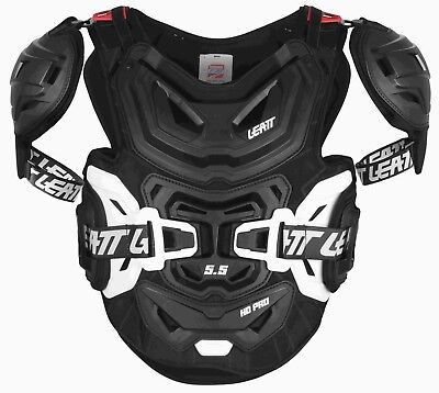 Leatt Chest Protector 5.5 Pro Hd Bmx Mx Atv Support Black Adult One Size Os