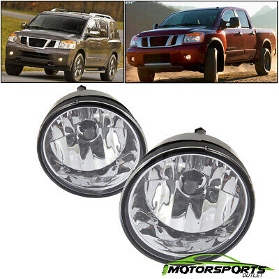 For 2004-2015 Nissan Titan/04-07 Armada Fog Lights+Toggle Switch+Wiring Harness