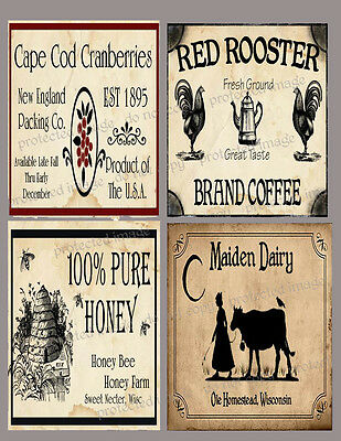 Primitive Farmhouse Pantry Labels   #FH444