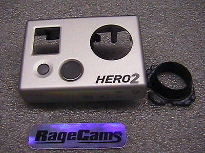 Front Faceplate Camera Face Plate Cover For Gopro HD Hero HD2 Hero2 Silver MINT