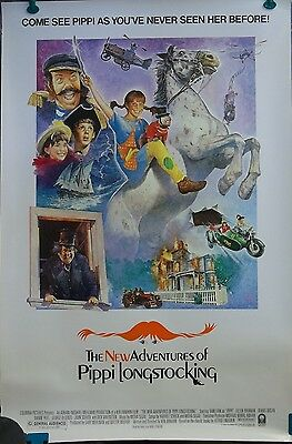 1988 The New Adventures of Pippi Longstocking Original Movie Poster 27x40