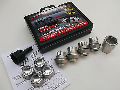 Fit Alloy Wheels Only GFF Locking Wheel Nuts EVO PE1411 With Chrome Covers