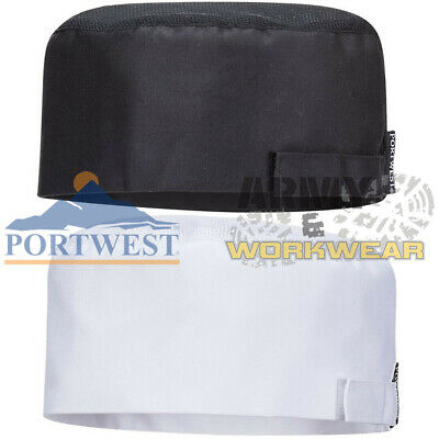 Portwest Aerated Meshair Skull Cap Chefs Professional Catering Pro Cooks Hat